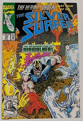 The Silver Surfer #73 Marvel Comic 1987 2nd Series 1992 Herald Ordeal Ron Marz