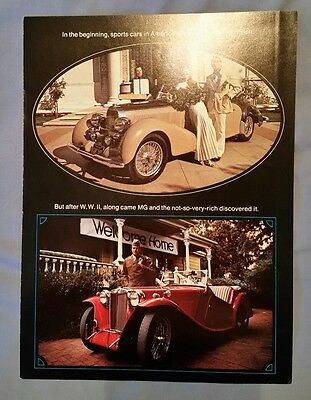 Vintage 1974 MGB MGBGT MG Dealer Midget Sales Brochure Fold Out AMG 3-250M 12/73