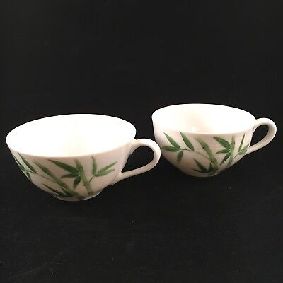 Omega China Tea Cups Calcutta Bamboo Pattern Made in Japan - Set of 2