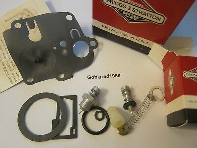 NEW Genuine Briggs & Stratton Carburetor Kit 494623 USA LOTS More Parts Listed