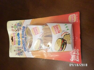 RARE Burger King Full Size Onion Rings & French Fries Play Food in Package