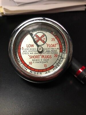 Vintage Red Ex Car Care Robot Vacuum Gauge
