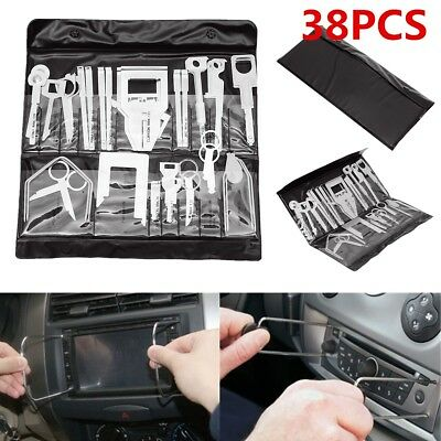 38Pcs Car Stereo Player Radio Release Removal Key Kit Set Audio Tool For Vehicle