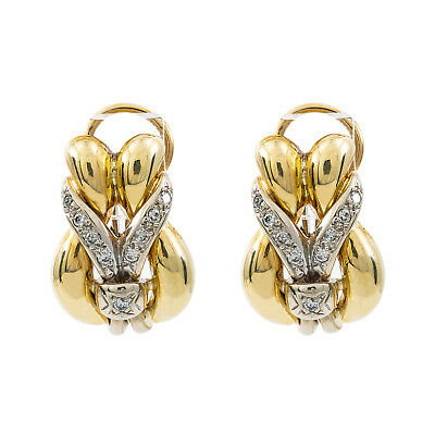 14K Yellow Gold 0.40 Ct I SI2 Diamond Earrings12.5 Grams