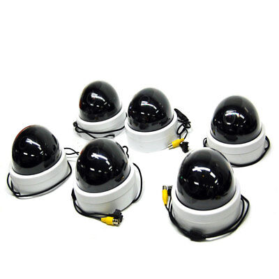 (Lot of 6) Clinton Electronics CE-955-CAM-WD Indoor Dome Cameras