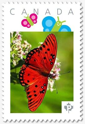 Red BUTTERFLY =  Personalized Picture Postage stamp Canada 2018 [p18-07s15]