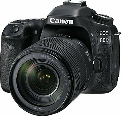 Canon EOS 80D DLSR Kit with EF-S 18-135mm f/3.5-5.6 IS USM Lens (Black)