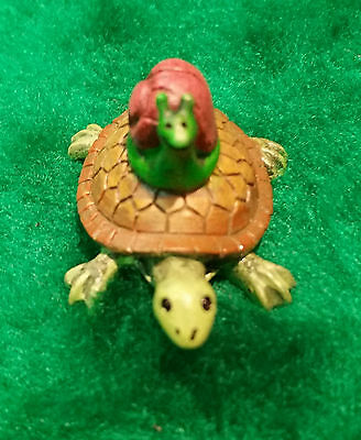 Miniature Dollhouse Fairy Garden Turtle and Snail