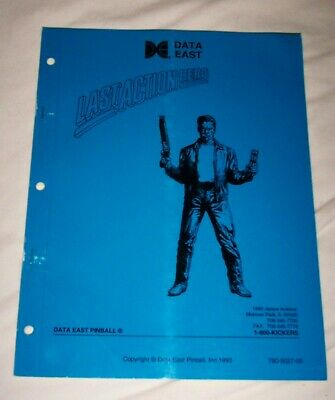 Last Action Hero Pinball Machine Original Manual 780-5027-00 NOS! Free Ship!