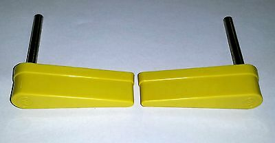 Bally Williams Pinball Machine Yellow Flipper Bats Set Of 2 20-10110-6 20-9250-6