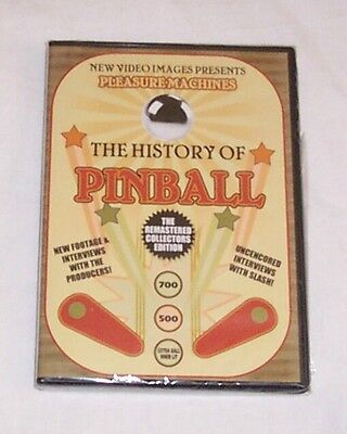 The History Of Pinball DVD A Must For Pinball Machine Collectors! Free Ship New!