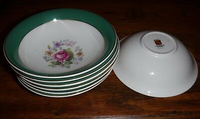 MYOTT lot of 7 cereal bowls 6 inchs and half staffordshire england , great shape