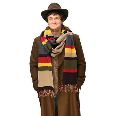 Doctor Who Knitted Striped Scarf Fourth 4th Tom Baker Costume with Tassels 200cm