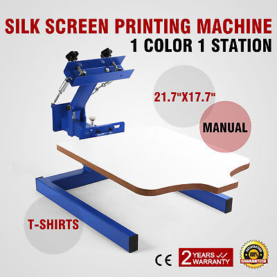 1 Color 1 Station Silk Screen Printing Machine Carousel Glass Wood FANTASTIC