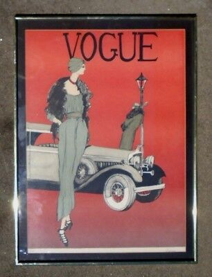 graphic limited edition lithograph Vogue Cover art poster signed Leslie Andrews