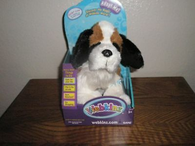 New In Box Webkinz Plush Alpine St. Bernard Dog Excellent Complete With Code