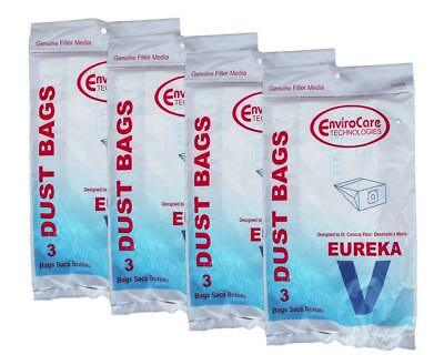 12 Eureka 52358, 52358B, 154SW Style V Canister Vacuum Bags EnviroCare