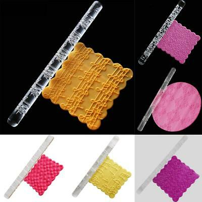 7 Styles Decoration Acrylic Pastry Roller Baking Tools Rolling Pin Embossing