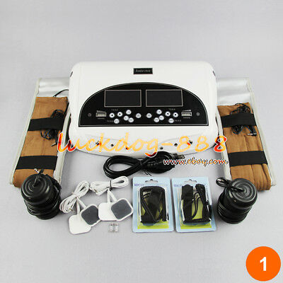 Dual Foot Detox Machine Ionic Foot Bath Spa Cell Cleanse Kit Acupuncture Therapy