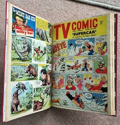 TV Comic Bound Volume in Cloth. 13 Issues 612-624. 7/9/1963-30/1/1963