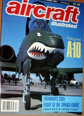 Aircraft Illustrated Magazine 1987 December Loganair,Sigonella P-3,A-10,DC-6