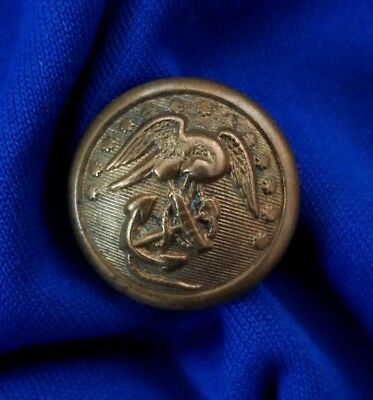 Original Indian War Era U.s. Marine Corps Usmc Button - Rare