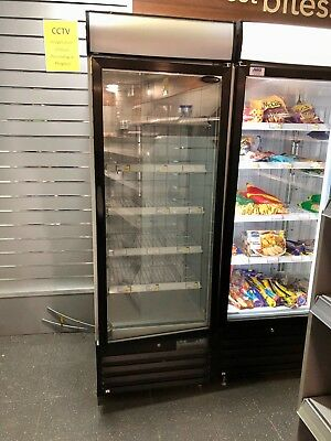 Tefcold Single Upright Retail Display Freezer Top Model 12 Mths Old Bargain