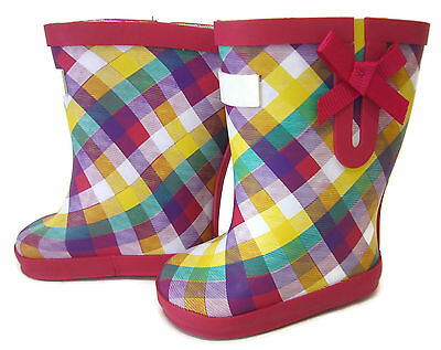 Doll Clothes fits American Girl Red Plaid Print Wellie Rain Boots Shoes