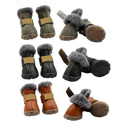 Pet Dog Waterproof Shoes Puppy Autumn Winter Non-Slip Warm 4PCS Outdoor Boots