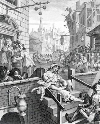 GIN LANE by William Hogarth - Matt, Glossy, Canvas Paper A4 or A3