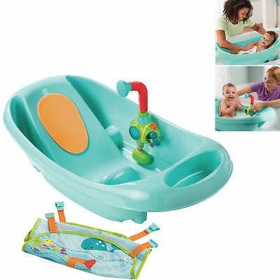 New Summer Infant Turquoise My Fun Tub Baby Bath With Sprayer