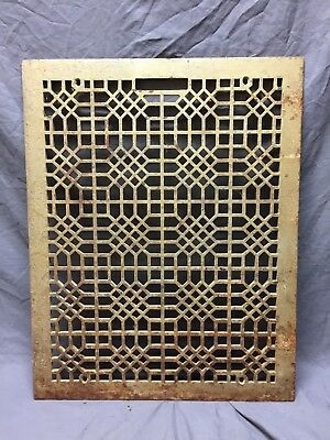 Antique 20X26 Cold Air Return Heat Grate Grill Honeycomb Floor Vent Vtg 266-18C
