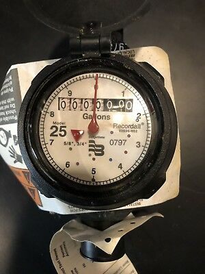 Badger Record-All Water Meter, Model 25, New, Plastic Housing