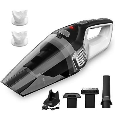 Homasy Rechargeable Handheld Vacuum Cordless, Powerful Cyclonic Suction Vacuum C