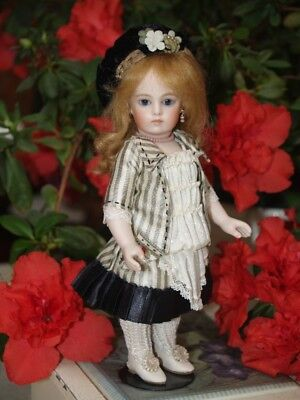 Doll Wig, For TINY  Doll Head. Pure 100% mohair mignonette doll wig, Ash Blonde