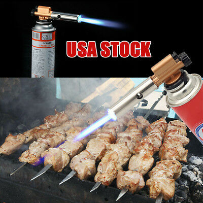 Flame Gun Jet Torch Butane Gas Torch For Welding Solder BBQ Cooking Camping US