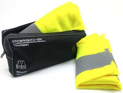 Porsche Tequipment Hi Visibility Safety Vests  x 2 - Genuine Porsche Item