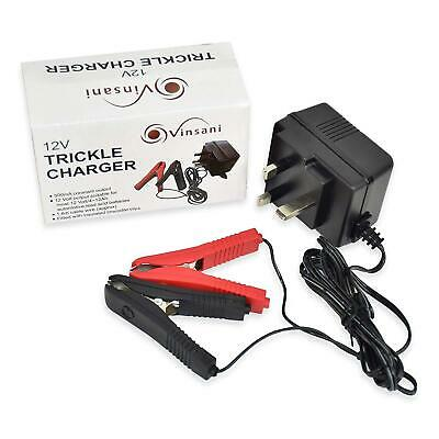 Vinsani Plug in Trickle Battery Charger 12v 500mA