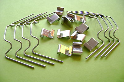 GREENHOUSE W AND  Z GLASS GLAZING CLIPS or mixed w +z CLIPS -- CLICK ON LINK xx