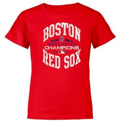 Soft as a Grape Boston Red Sox Youth Red 2018 World Series Champions T-Shirt