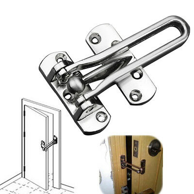 Door Restrictor Strong Heavy Duty Security Safety Guard Lock Chain Catch
