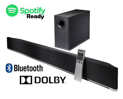 Soundbar Wireless Sub woofer Bluetooth Black 2.1 DTS 100 db output 38 inch