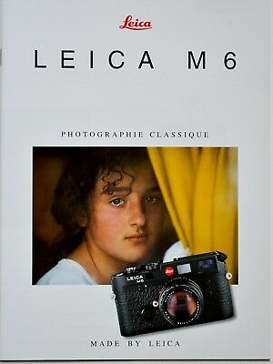 Leica M6 Rangefinder Camera Brochure, In French Text