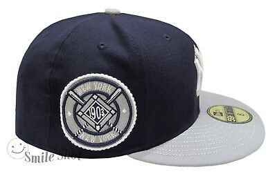 7c34ae2c0bf New Era 59Fifty MLB NY Yankees Fitted Cap 1903 Patch Navy Grey Size 8 NWT  RARE