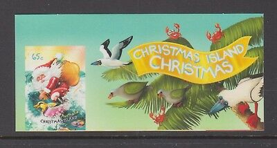 Christmas Island 2018 Christmas Mint unhinged Surfing Santa with gifts.Label