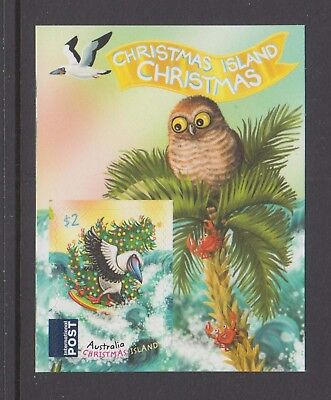 Christmas Island 2018 Christmas MUH Int Post stamp with descriptive label. Booby