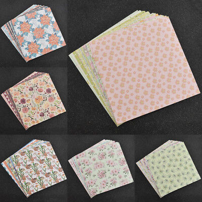 24 Sheet Lovely Origami Art Background Paper DIY Scrapbooking Craft Supplies