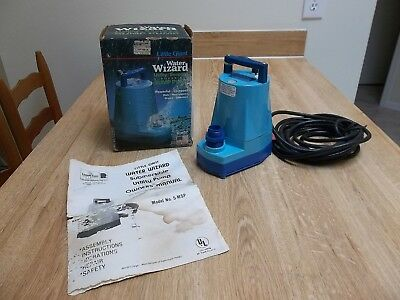 Little Giant Water Wizard 5-MSP Utility Seepage Submersible Sump Pump Powerful!!