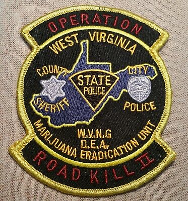 WV West Virginia State Police DEA Operation Road Kill II Patch