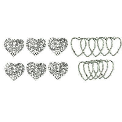 16pcs Pendentifs Charms Filigrane Alliage Argent Tibétain Extra-large